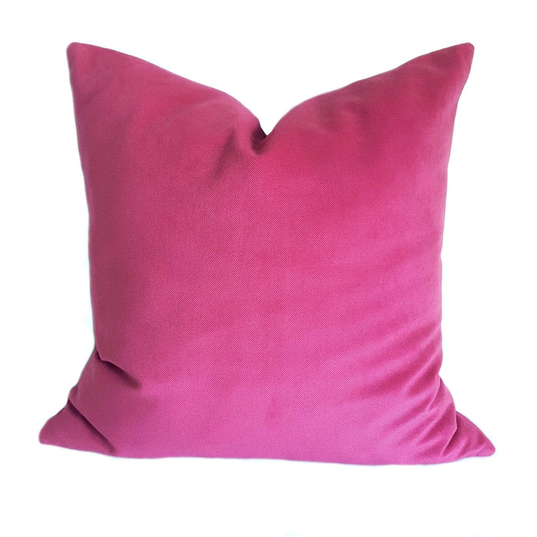 Pink Velvet Pillow Case Purple Velvet Throw Pillow Cover