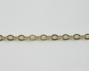 Bright Gold, 4mm x 3mm Classic Cable Chain CC173