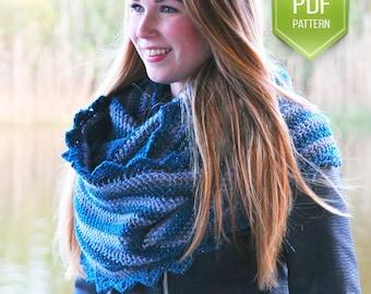 PDF crochet pattern Frostbite cowl - Instant download - Shawl, Scarf or shoulder wrap
