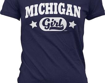 Michigan Girl Juniors T-shirt, NOFO_00979