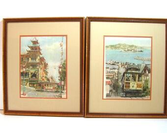 Don Davey San Francisco Framed Prints - China Town - Cable Car