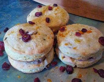 Large Cranberry Orange Buttermilk Biscuits