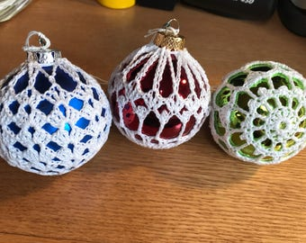 Crocheted Ornaments Set of Three