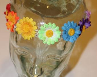 RAINBOW hemp flower crown