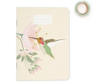"Pocket size Notebook - Hummingbird   A6 - 4.13 x 5.83"""