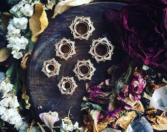 Gold Mandala Gauges Plugs 8mm 10mm 12mm 14mm