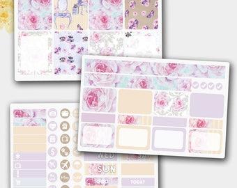 Erin Condren Inspired Planner Stickers, Floral Stickers, Planner Sticker Bundle,  Planner Stickers, Erin Condren Inspired Weekly Kit