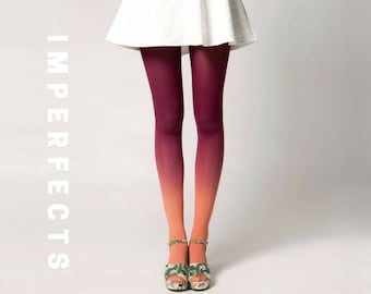 IMPERFECT, Ombré Tights in Dahlia