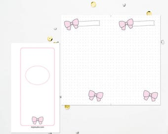 PERSONAL RING Pink Bow Dot Grid
