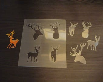 Set of deer P00235 for your project