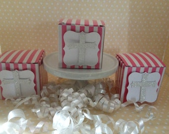 Baptism, Christening, First Communion, Confirmation Party Mini Favor Boxes - Set of 10