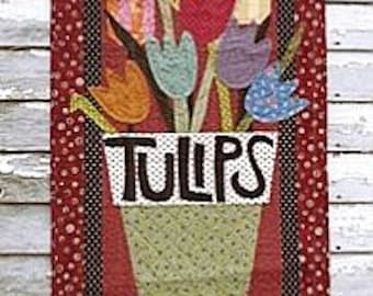 """Pattern: """"Pot O' Tulips"""" Wall Quilt Pattern by Country Threads"""
