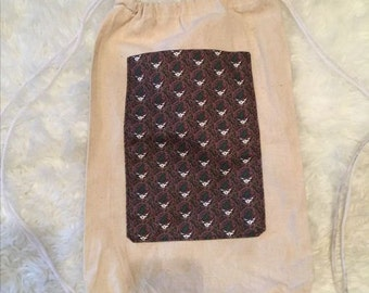 Grateful Dead Stealie Drawstring Backpack (purple)