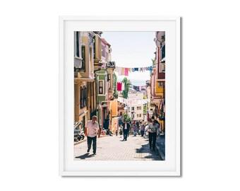 Photographie Fine Art d'un quartier coloré d'Istanbul en Turquie