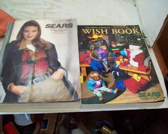 Last Sears Christmas Wishbook Catalog 1992  Last 1992-1993 Fall & Winter Catalog Free Shipping