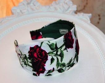 Womens wide headband turban beautiful roses for a beautiful woman Blossoms headband bandana Headwrap Headbands for women wife birthday gift