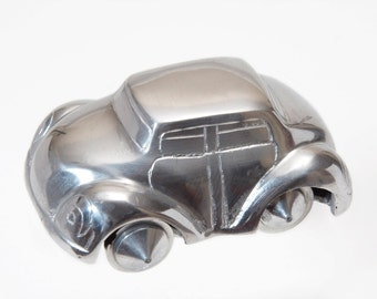 Vintage Art Deco Aluminium Toy Car Collectible Automobile Memorabilia