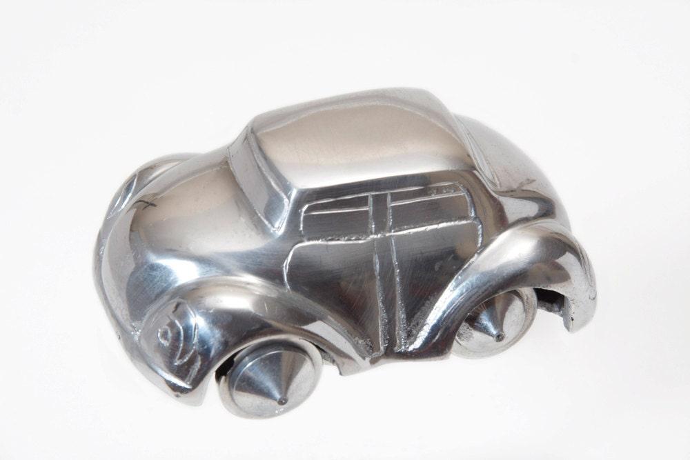 Vintage Art Deco Aluminium Toy Car Collectible Automobile