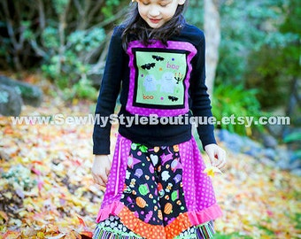 Boutique Halloween skirt 4T-12y