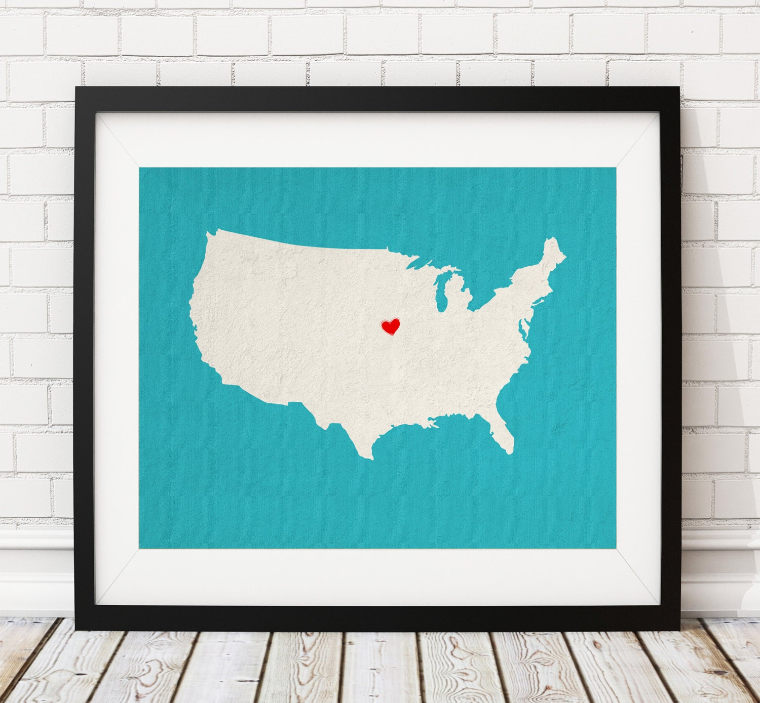 custom united states silhouette customized us map art gift heart map of usa united states map state america map print with united states map silhouette