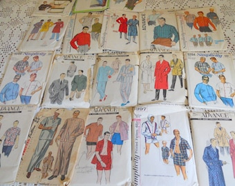 Lot of 18 Vintage Men's Sewing Patterns #5