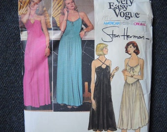 vintage 1970s Vogue American Designer Original Stan Herman sewing pattern 1530 misses dress size 12