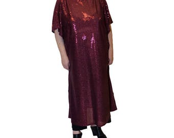 Transparent glitter caftan (from paillette)