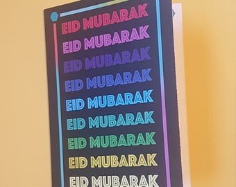 Rainbow Eid Card