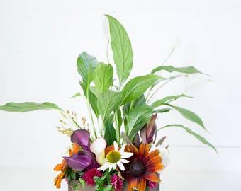 "8"" Hexagon Cedar Wood Planter Box | Geometric Succulent Hexagon Planter | Flower Box | Rustic Wedding Centerpiece | Wedding Table Decor"