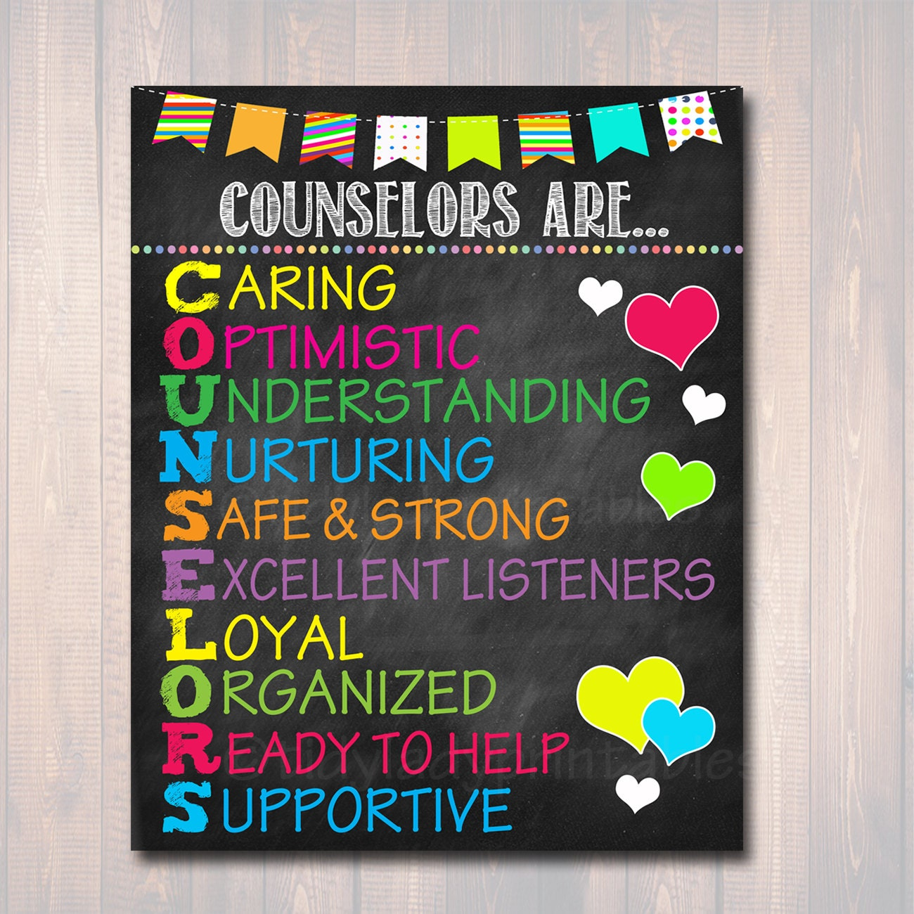 School Counselor Poster Counselors Are Acronym Art Office