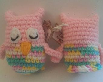 Crocheted Little Stuffed Owl