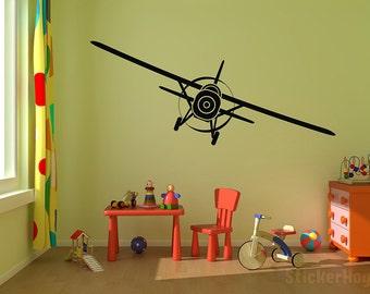 "Airplane Vinyl Wall Decal Graphics 69""x22"""" Bedroom Decor"