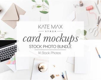 Card Mockups Stock Photo Bundle / Styled Stock Photos / 14 KateMaxStock Branding Images for Your Business