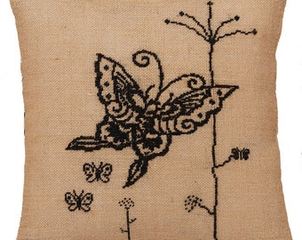 Needlepoint pattern BUTTERFLY,embroidery pattern,cross stitch pattern,cross stitch pillow,cross stitch,needlepoint pillow,anetteeriksson,diy