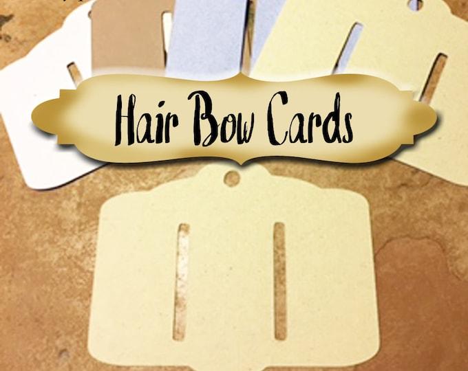 36•HAIR BOW Cards•3 x 4 inch•Bow Cards•Barrette Cards•Hair Pin Display•Hair Pin Card