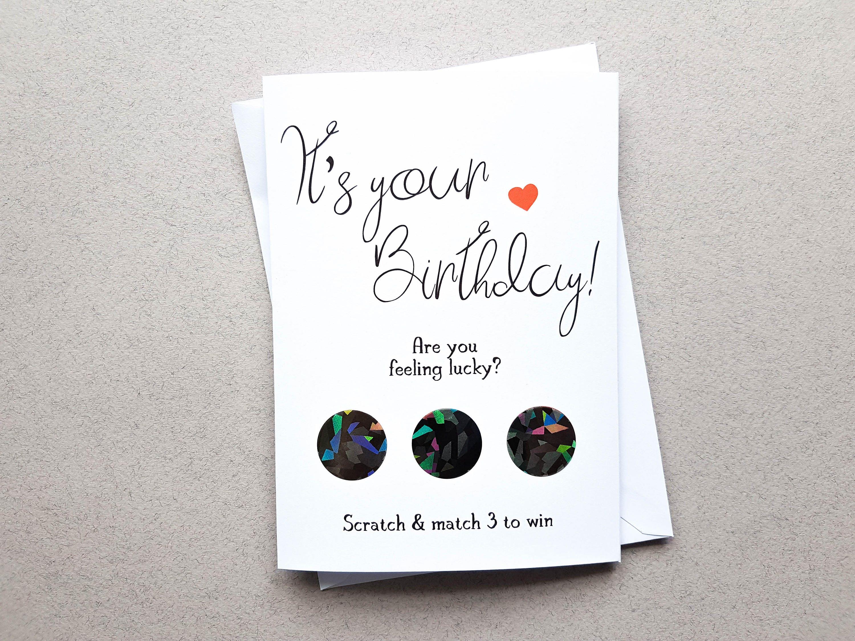 Rude Scratch f Birthday Card Boyfriend Birthday Card