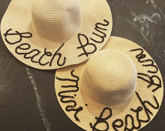 Beach Bum Sun hat Duo