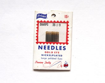 Supplies - Prims Sharps Needles, Size 9, 25 count