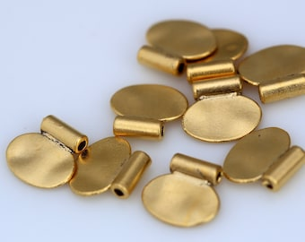 6 pcs 12 x 13 mm (2 mm hole) gold plated alloy finding charm pendant 893