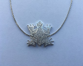 Frog Filigree Necklace.