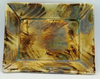 Small Handbuilt Stoneware Platter