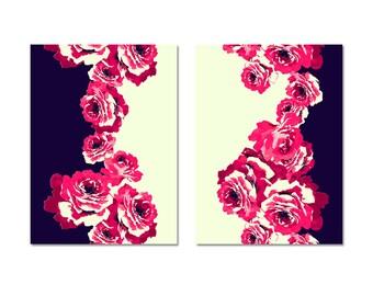 original print, home decor art, wall decor art, bathroom decor wall art, wall art print, floral print art, fine art print, Rose prints