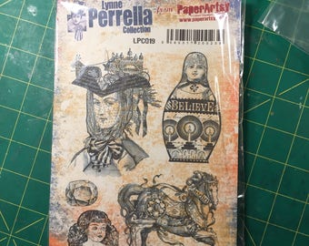Rubber Stamps, De-Stash,Lynn Perrella Collection, LPC019,Upcycled, Used, De-Stash.
