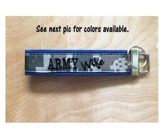 Army Wife Key Fob - Army Wife Keychain - Army Wife Wristlet - Birthday