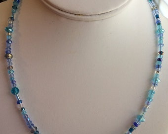 Multiple Shades of Blue Necklace