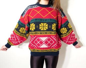 Vintage Mens Sweater / Bik Bok Classico Sweater / Hipster Sweater