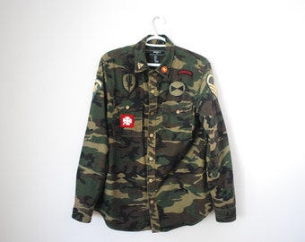AIRBORNE RANGER Army Camo Jacket