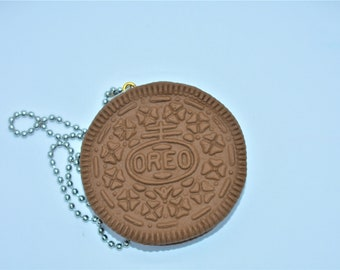Chocolate oreo necklace/ Classic oreo necklace/ Polymer clay oreo necklace