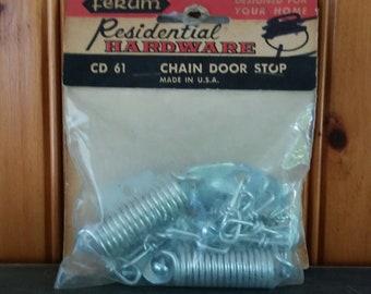 Vintage Screen Door Chain And Springs Door Stop, Residential Hardware, Mid Century Renovations