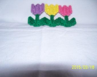 Plastic Canvas Tulip Spring Flower Magnet